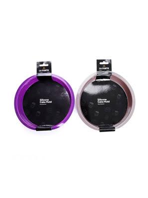 Khuôn bánh silicone La Fonte hình tròn màu tím - YY20855