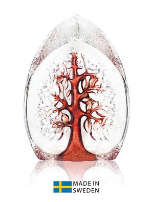 Vật trang trí hình cây của sự sống lớn bằng pha lê màu đỏ Maleras