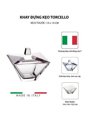 Khay thủy tinh đựng kẹo Vidivi Torcello 14x14cm - 62970E