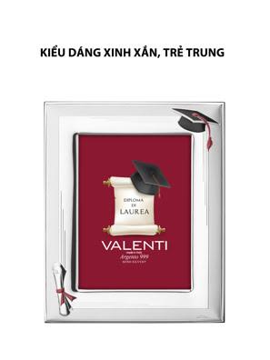 Khung ảnh tốt nghiệp,kích thước 13x18 mạ bạc hiệu VALENTI  - 510494L