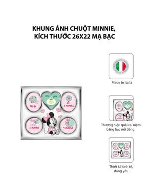 Khung ảnh chuột Minnie,kích thước 26x22 mạ bạc hiệu VALENTI  - D1225LRA