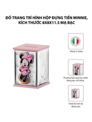 Đồ trang trí hình Hộp đựng tiền Minnie,kích thước 8*8*11.5 mạ bạc hiệu VALENTI  - D303RA