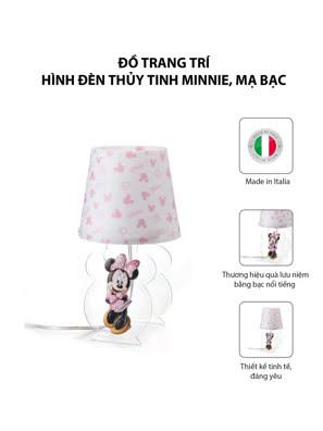 Đồ trang trí hình Đèn thủy tinh Minnie mạ bạc hiệu VALENTI  - D358RA
