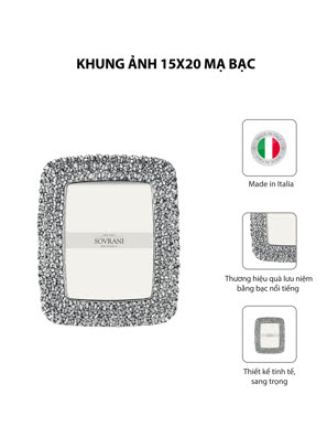 Khung ảnh 15x20 mạ bạc hiệu VALENTI  - R380